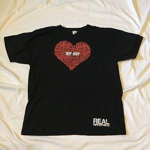 Vintage 90s hip-hop black T-shirt size XL